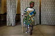 Firdausi Adamu, 9, contracted polio when she was four. She smiles after an appointment at the National Orthopaedic Hospital in Kano, Nigeria, where her right leg was measured for a new brace.