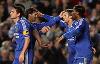 Photo: Paul Thomas.<br /> Chelsea v Levski Sofia. UEFA Champions League, Group A. 05/12/2006. <br /> <br /> Andriy Shevchenko (3nd R) and Chelsea celebrate his goal.