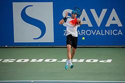 Blaz Rola of Slovenia playing Singles in Quarter - Final of ATP Challenger Zavarovalnica Sava Slovenia Open 2019, day 8, on August 16, 2019 in Sports centre, Portoroz/Portorose, Slovenia. Photo by Vid Ponikvar / Sportida