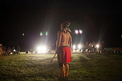 Drifting. Tony Enos, Two-Spirit, eastern band Cherokee, watching the smoke drift. East Coast Two-Spirit Society Gathering, 2015. Allegany State Park, NY 2015