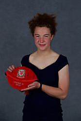 NEWPORT, WALES - Saturday, May 19, 2018: Mary McAteer during the Football Association of Wales Under-16's Caps Presentation at the Celtic Manor Resort. (Pic by David Rawcliffe/Propaganda)