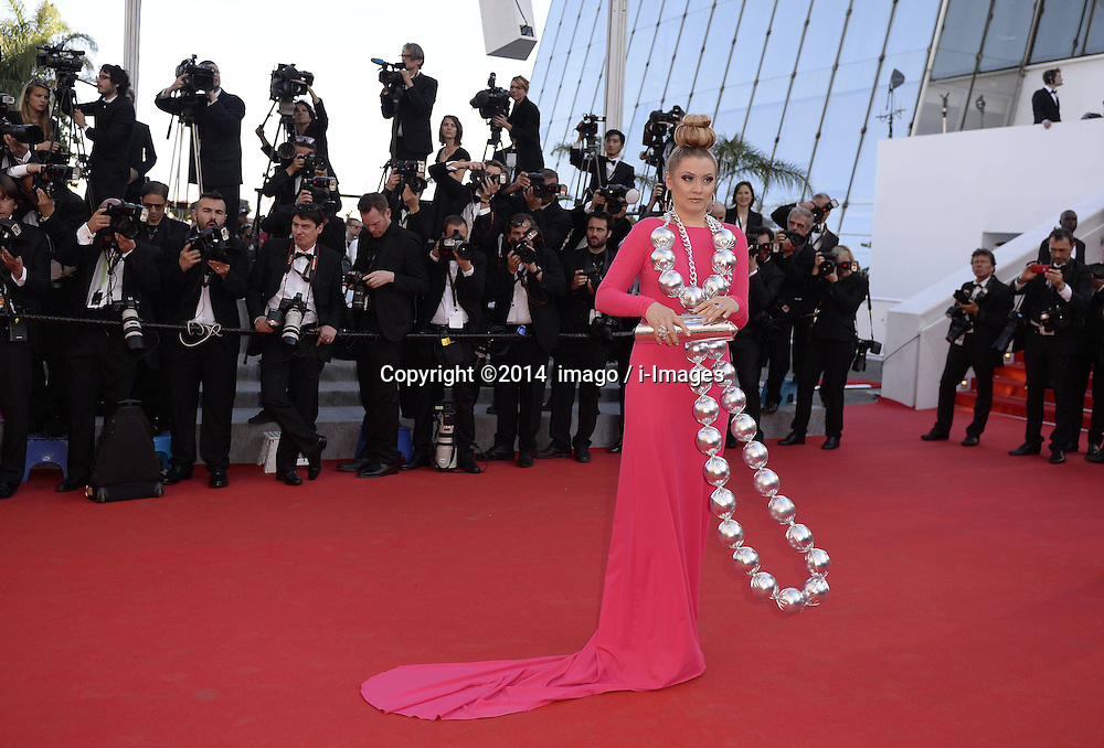 61529077<br /> Russian TV personality Elena Lenina arrives for the screening of Mr Turner during the 67th Cannes Film Festival, in Cannes, France, Thursday, 15th May 2014. Picture by  imago / i-Images<br /> UK ONLY