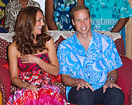 "CATHERINE, DUCHESS OF CAMBRIDGE AND PRINCE WILLIAM.William and Kate attended a reception and dinner hosted by the Governor General at his residence.The couple wore Island Print design shirt and dress respctively_16/09/2012.Mandatory credit photo: ©Ian Jones/DIASIMAGES..""NO UK USE FOR 28 DAYS"" ..(Failure to credit will incur a surcharge of 100% of reproduction fees)..                **ALL FEES PAYABLE TO: ""NEWSPIX INTERNATIONAL""**..IMMEDIATE CONFIRMATION OF USAGE REQUIRED:.DiasImages, 31a Chinnery Hill, Bishop's Stortford, ENGLAND CM23 3PS.Tel:+441279 324672  ; Fax: +441279656877.Mobile:  07775681153.e-mail: info@newspixinternational.co.uk"