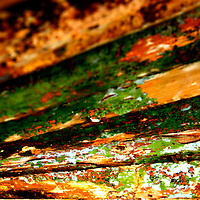 Galway, Ireland, wreck, paint, peeling, flaking, sun, evening, colour, color, contrast, abstract, art, vibrant,