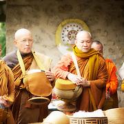 Repas des Moines Monastère Bodhinyanarama.
