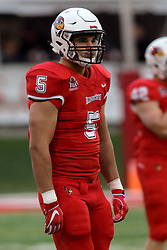NORMAL, IL - September 08: Zeke Vanderburgh during 107th Mid-America Classic college football game between the ISU (Illinois State University) Redbirds and the Eastern Illinois Panthers on September 08 2018 at Hancock Stadium in Normal, IL. (Photo by Alan Look)