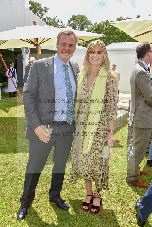 The Marquess & Marchioness Of Milford Haven at the Cartier Queen's Cup Polo 2019 held at Guards Polo Club, Windsor, Berkshire. UK 16 June 2019. <br /> <br /> Photo by Dominic O'Neill/Desmond O'Neill Features Ltd.  +44(0)7092 235465  www.donfeatures.com