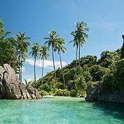 Beautiful bay in a lagoon of Misool area, West-Papua.