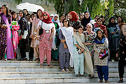 Students at the all-female Fatima Jinnah University in Rawalpindi, Pakistan