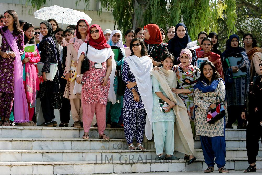 Students at the all-female Fatima Jinnah University in Rawalpindi, Pakistan