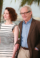 Simone Kirby, Ken Loach at the photo call for the film Jimmy's Hall at the 67th Cannes Film Festival, Thursday 22nd May 2014, Cannes, France.