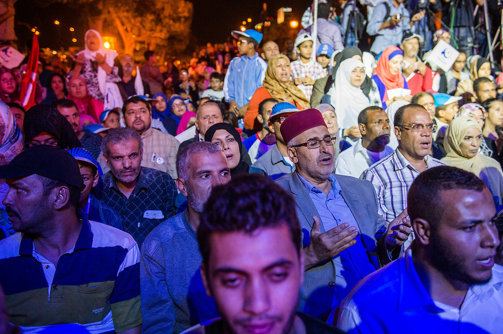 Meeting de cloture d'Ennahdha, lors de la campagne législatives, le 24 octobre 2014. Tunis.