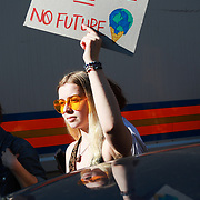 Thousands of school children went on strike and did not go to school demanding climate change action in central London March 15th 2019, Central London, United Kingdom. The strike is inspired by Greta Thunberg, a Swedish school girl who in 2018 went on school strike to make adults and lawmakers take climate change action.