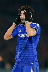 Diego Costa of Chelsea looks dejected - Photo mandatory by-line: Rogan Thomson/JMP - 07966 386802 - 11/03/2015 - SPORT - FOOTBALL - London, England - Stamford Bridge - Chelsea v Paris Saint-Germain - UEFA Champions League Round of 16 Second Leg.