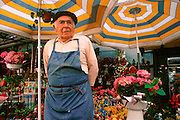 SPAIN, CATALONIA, BARCELONA Flower market near Las Ramblas