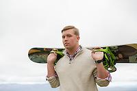 Drew Ingoldsby senior portrait session at Gunstock.  ©2014 Karen Bobotas Photographer