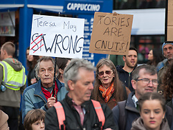 April 29, 2017 - Bristol, Bristol, UK - Bristol, UK. ''Tories Out'' protest in Bristol city centre, organised by the Bristol People's Assembly. Speakers include Lesley Mansell, Labour candidate for the West of England Combined Authority 'Metro Mayor', and Jonathan Bartley, Green Party co-leader. The protest is against another term of Conservative government and austerity following the general election, and in favour of homes, health, transport and jobs. The protest also opposes the Conservatives winning the West of England Combined Authority mayoral election on 04 May. (Credit Image: © Simon Chapman/London News Pictures via ZUMA Wire)