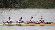 Hammersmith, Greater Game, London, UK. Elite  M4X, Leander Club, competing in the  2015 Fours Head of the River Race, River Thames [ opposite Chiswick Eyot]  Saturday  07/11/2015 <br /> <br /> [Mandatory Credit: Peter SPURRIER: Intersport Images]