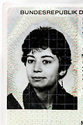 ID photo on a German residence card