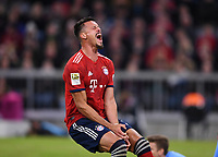 Fussball  1. Bundesliga  Saison 2018/2019  5. Spieltag  FC Bayern Muenchen - FC Augsburg       25.08.2018 Sandro Wagner (FC Bayern Muenchen) enttaeuscht ----DFL regulations prohibit any use of photographs as image sequences and/or quasi-video.----