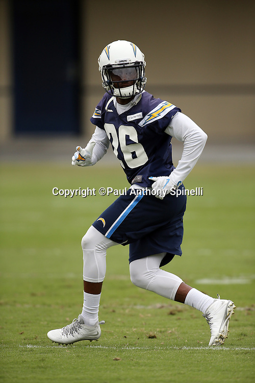 San Diego Chargers cornerback Casey Hayward (26) chases the action during the Chargers 2016 NFL minicamp football practice held on Tuesday, June 14, 2016 in San Diego. (©Paul Anthony Spinelli)