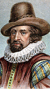 Francis Bacon (1561-1626) Viscount St Albans. English philosopher, scientist and statesman. Lord Chancellor 1618. In science advocated observation and experiment rather than Aristotelian deductive logic. Early 20th century chromolithograph