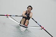 Beijing, CHINA. NZL JM1X, Henry POOR,  moves away from the start pontoon  at  the  2007. FISA Junior World Rowing Championships,  Shunyi Water Sports Complex. 10/08/2007 [Photo, Peter Spurrier/Intersport-images]..... , Rowing Course, Shun Yi Water Complex, Beijing, CHINA,