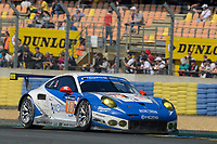 Christian Ried (DUE) / Wolf Henzler (DUE) / Joel Camathias (CHE) #78 KCMG Porsche 911 RSR,  during Le Mans 24 Hr June 2016 at Circuit de la Sarthe, Le Mans, Pays de la Loire, France. June 19 2016. World Copyright Peter Taylor/PSP. Copy of publication required for printed pictures.  Every used picture is fee-liable. http://archive.petertaylor-photographic.co.uk