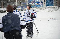 New England Pond Hockey Classic on Meredith Bay Friday, January 30, 2015.  Karen Bobotas for the Laconia Daily Sun