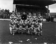 12/03/1961<br /> 03/12/1961<br /> 12 March 1961<br /> F.A.I. Cup 2nd round: Shamrock Rovers v Waterford at Glenmalure Park, Milltown, Dublin. The Waterford team.