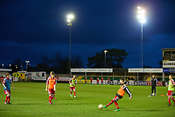 RHYL, WALES - Tuesday, March 18, 2014: Wales players warm-up before the Under-15's International Friendly match against Poland at Belle Vue. (Pic by David Rawcliffe/Propaganda)