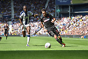 Bolton Wanderers midfielder Will Buckley (11) sprints forward with the ball during the EFL Sky Bet Championship match between West Bromwich Albion and Bolton Wanderers at The Hawthorns, West Bromwich, England on 4 August 2018. Picture by Dennis Goodwin.