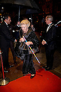 14-11-2015 AMSTERDAM - Princess Beatrix attends Monday November 14, 2016 at DeLaMar Theater in Amsterdam at the 19th edition of the Ballet Gala Foundation Dancers '79. COPYRIGHT ROBIN UTRECHT<br /> <br /> 14-11-2015 AMSTERDAM - Prinses Beatrix met een wandelstok woont maandagavond 14 november 2016 in het DeLaMar Theater in Amsterdam de 19e editie bij van het Balletgala van Stichting Dansersfonds &rsquo;79. COPYRIGHT ROBIN UTRECHT