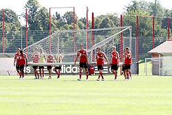 12.07.2011, Bayern Trainingsgelaende, Muenchen, GER, 1.FBL, Training Bayern Muenchen, im Bild  Die Bayern Spieler tragen ihr Tor selber auf den Platz// during the training session,  on 2011/07/12, Training Ground, Munich, Germany, EXPA Pictures © 2011, PhotoCredit: EXPA/ nph/  Straubmeier       ****** out of GER / CRO  / BEL ******