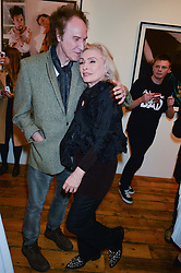 DEBBIE HARRY and RAY DAVIES at a private view of Chris Stein/Negative: Me, Blondie And The Advent Of Punk, held at Somerset House, The Strand, London on 5th November 2014.