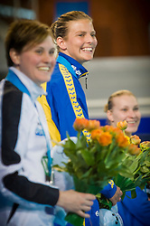 19.05.2012, Pieter van den Hoogenband Swimming Stadium, Eindhoven, NED, LEN, Turmspring Europameisterschaft 2012, Damen 3 Meter Springbrett, im Bild Anna Lindberg (SWE) gold medal // during Women's 3m springboard - preliminary of LEN Diving European Championships at Pieter van den Hoogenband Swimming Stadium, Eindhoven, Netherlands on 2012/05/19. EXPA Pictures © 2012, PhotoCredit: EXPA/ Insidefoto/ Giorgio Perottino..***** ATTENTION - for AUT, SLO, CRO, SRB, SUI and SWE only *****