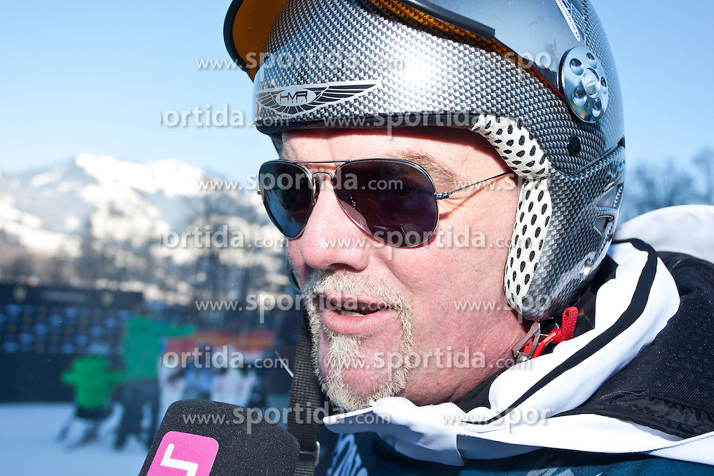 26.01.2013, Streif, Kitzbuehel, AUT, FIS Weltcup Ski Alpin, A1 Charity Race, Herren, im Bild Entertainer DJ Oetzi Gerry Friedle // during A1 Charity Race of the FIS Ski Alpine World Cup at the Streif course, Kitzbuehel, Austria on 2013/01/26. EXPA Pictures © 2013, PhotoCredit: EXPA/ Marcus Casna