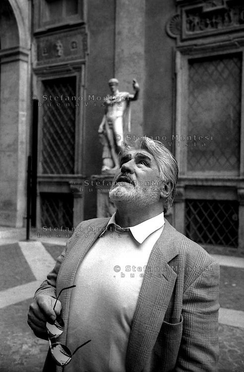 March 1997..Swiss actor Mario Adorf in Rome, Palazzo Antici-Mattei di Via Caetani