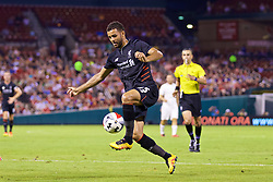 ST. LOUIS, USA - Monday, August 1, 2016: Liverpool's Kevin Stewart in action against AS Roma during a pre-season friendly game on day twelve of the club's USA Pre-season Tour at the Busch Stadium. (Pic by David Rawcliffe/Propaganda)