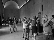 Tourists, the Palais de Papes or Pope's Palace, Avignon, 10 June 2018