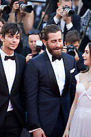Jake Gyllenhaal, Devon Bostic and Lily Collins at the Okja gala screening,  at the 70th Cannes Film Festival Friday 19th May 2017, Cannes, France. Photo credit: Doreen Kennedy