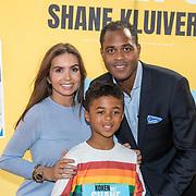 NLD/Muiden/20180325 - Boekpresentatie koken met Shane Kluivert , met zijn ouders Rossana Lima en partner Patrick Kluivert