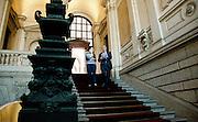 Milano, il sindaco Giuliano Pisapia al lavoro a palazzo Marino