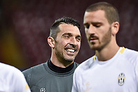 Gianluigi Buffon of Juventus during the training session ahead the UEFA Champions League Final between Real Madrid and Juventus at the National Stadium of Wales, Cardiff, Wales on 2 June 2017. Photo by Giuseppe Maffia.<br /> <br /> Giuseppe Maffia/UK Sports Pics Ltd/Alterphotos