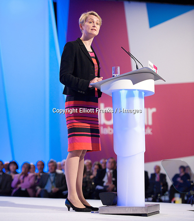 Yvette Cooper MP, Shadow Home Secretary during the Labour Party Conference in Manchester, October 3,  2012, Photo by Elliott Franks / i-Images