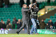 Celtic boss Brandan Rogers applauds the home support at the end - Celtic v Dundee in the Ladbrokes Scottish Premiership at Celtic Park, Glasgow. Photo: David Young<br /> <br />  - © David Young - www.davidyoungphoto.co.uk - email: davidyoungphoto@gmail.com