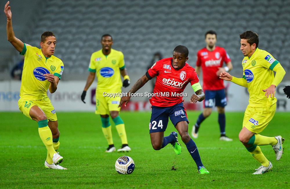 Yacine BAMMOU / Florent BALMONT / Alejandro BEDOYA - 14.01.2014 - Lille / Nantes - 1/4Finale Coupe de la Ligue<br /> Photo : Dave Winter / Icon Sport