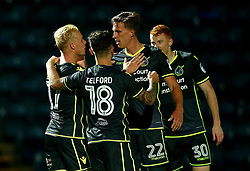 Ryan Broom of Bristol Rovers celebrates with teammates after scoring a goal to make it 3-1 - Mandatory by-line: Robbie Stephenson/JMP - 29/08/2017 - FOOTBALL - Adam's Park - High Wycombe, England - Wycombe Wanderers v Bristol Rovers - Checkatrade Trophy