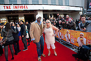 BEN OFEODU, VANESSA FELTZ , The Infidel premiere. Apollo theatre, Hammersmith. London. 8 April 2010