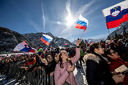 Fans during the Trial Round of the Ski Flying Hill Individual Competition at Day 1 of FIS Ski Jumping World Cup Final 2019, on March 21, 2019 in Planica, Slovenia. Photo by Vid Ponikvar / Sportida